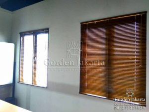 jual wooden blinds merk sharp point by blind id