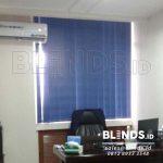 Jual Vertical Blinds Blackout Onna Blue Di Menteng