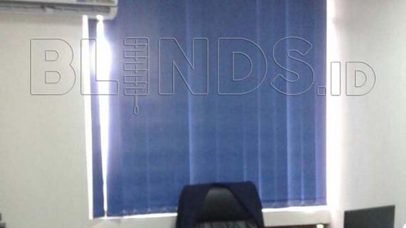 Jual Vertical Blinds Blackout Onna Blue Di Menteng