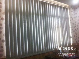 Pembuatan Vertical Blinds Blackout Sp. 6046 - 5 Grey Di Tanjung Q3660