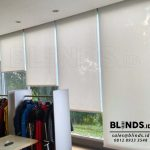 Roller Blinds Solar Screen Warna Putih Project Di Bekasi
