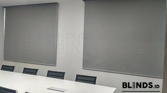 Roller Blinds Blackout Superior Grey Project Di Sudirman