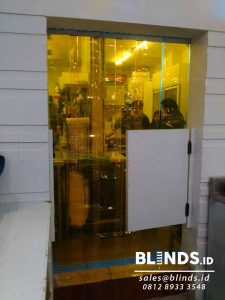 jual strip curtain PVC yellow custom di Depok Q3686