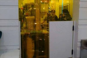 jual strip curtain PVC yellow custom di Depok Q3686