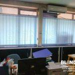 Vertical Blinds Blue Bahan Dimout Di Cawang
