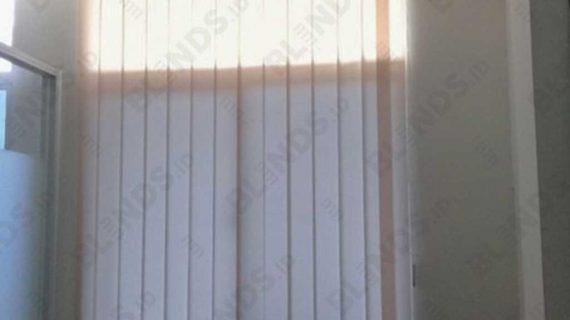Bahan Dimout Vertical Blinds Beige Bekasi