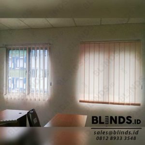 Contoh Vertical Blinds Dimout Sp.8010 - 3 Beige Sharp Point Q3925
