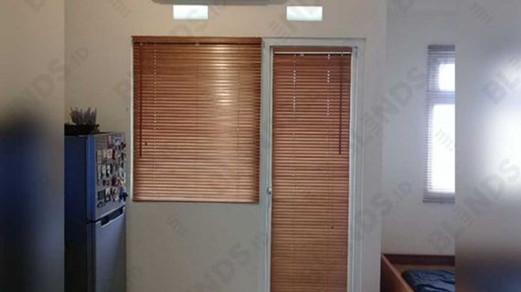 Pasang Wooden Blinds 27mm Di Apt Green Pramuka