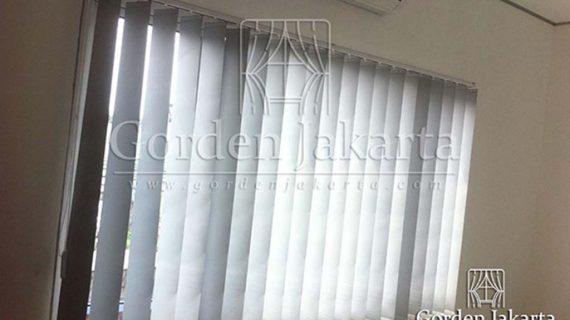 Vertical Blinds Blackout Grey Untuk Klien Di Ciputat