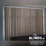 Vertical Blinds Bahan Blackout Peach Menteng