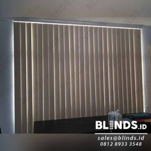 Contoh Vertical Blinds Bahan Blackout Sp.200-3 Peach Q3976