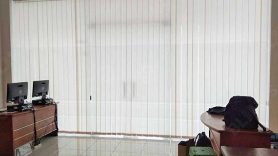 Contoh Vertical Blinds Dimout Beige Park Cipinang
