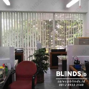 Tirai Vertical Blinds Dimout Sp 8003-6 Grey Sharp Point Q4020