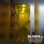 Contoh Strip Curtain PVC Kuning Pasang Di Batu Ceper Tangerang
