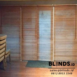 wooden blinds slat 27mm tropical hard wood Sp.03 WB light natural di Pejaten id3988