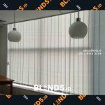Vertical Blinds Grey Pasang Di Wisma Nugra Santana Jakarta Pusat