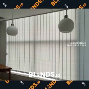 Vertical blinds grey bahan dimout sharp point id4145