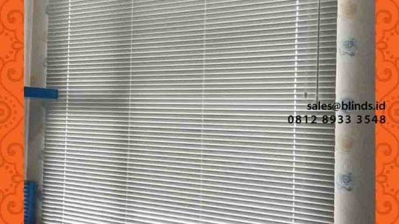 Horizontal Blinds Aluminium Apartment Royal Olive Warung Buncit