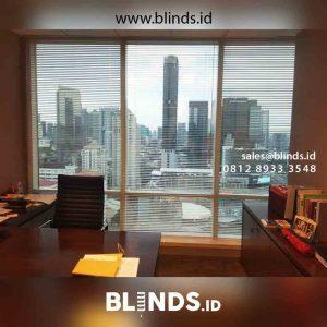 contoh venetian blinds deluxe slatting untuk kantor project Tanah Abang id4448