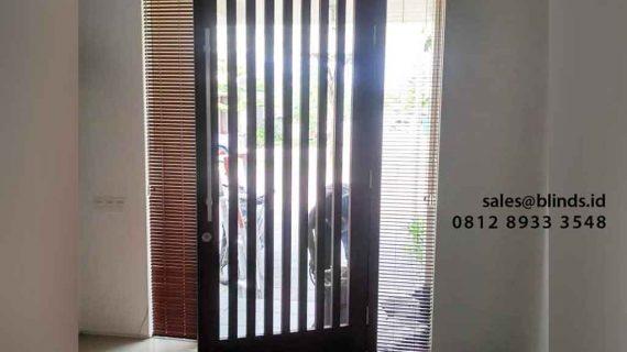 Venetian Blinds Wood Motive Clover Hill Residences Tangerang