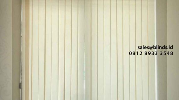 Vertical Blind Bahan Dimout Sharp Point Project Cengkareng Jakarta Barat