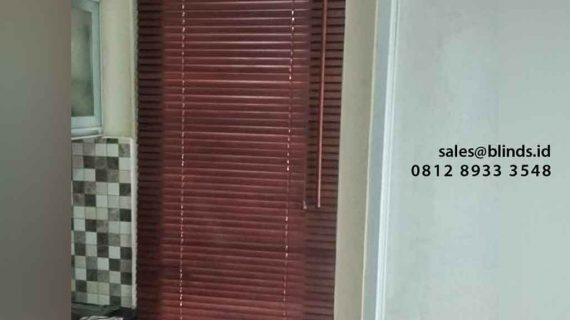 Pesan Wood Blinds Custom Di Kelapa Gading Jakarta Utara