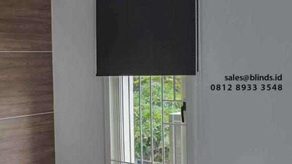 Contoh Roller Blind Blackout Sharp Point Cluster Mentari Alam Sutera