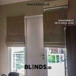 Pemasangan Roman Shades Blinds Coklat Susu Cinere One Residence Depok Gratis