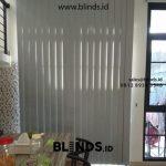 Custom vertical blinds blackout warna grey ID4984