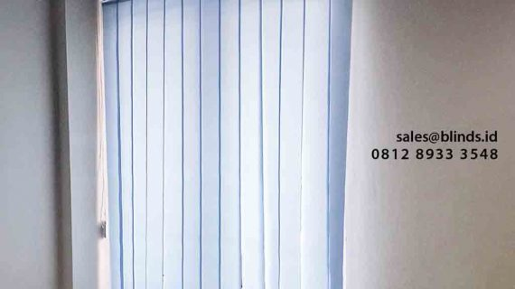 112+ Portfolio Vertical Blinds Sp 5448 -12 Blue Paling Favorit