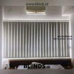Vertical blinds semi warna abu muda id4403