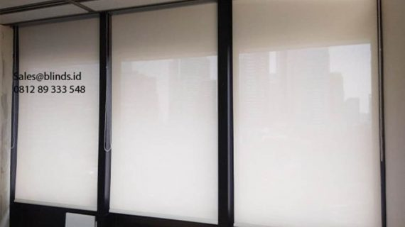 36+ Portofolio Roller Blinds Sp 2600-2 White Tirai Modern