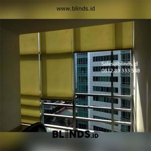 Jual Tirai Roller Blinds Dark Yellow Id5617