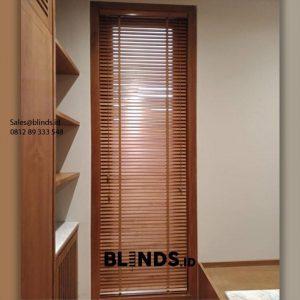 Jual Wooden Blinds Custom Warna Coklat ID6149