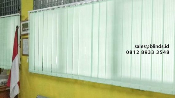 Pusat Jual Vertical Blinds Lengkap Berbagai Pilihan Bahan & Warna