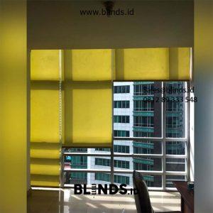 Roller Blinds Dark Yellow Klien di sahid Sudirman Tanah Abang Jakarta Pusat Id5617