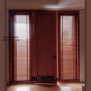 Tempat Jual Tirai Wooden Blinds Warna Coklat ID6149
