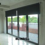 Tirai Roller Blinds Sp 6045-9 Black Villa Kelapa Dua Kebon Jeruk Jakarta