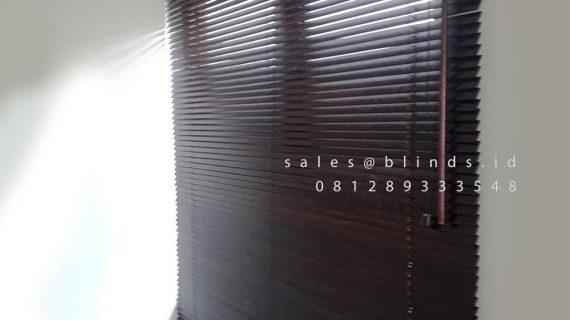 Jual Wooden Blinds Tropical HardWood 11 WB Mahogany Perumahan Premier Estate 2 Pondok Melati