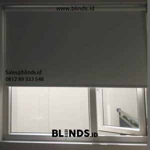 Roller Blinds Murah Sp 6045-10 white Dempo Gunung Kebayoran Baru Jakarta ID5975